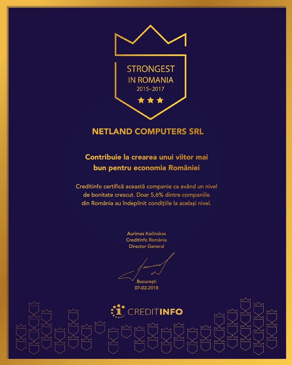 Netland Strongest in Romania